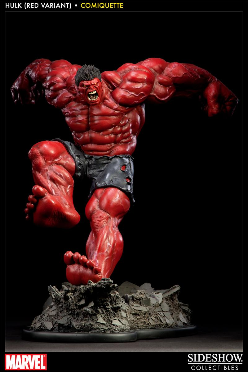Red hulk comiquette polystone statue sideshow collectibles - Pictures of red hulk ...