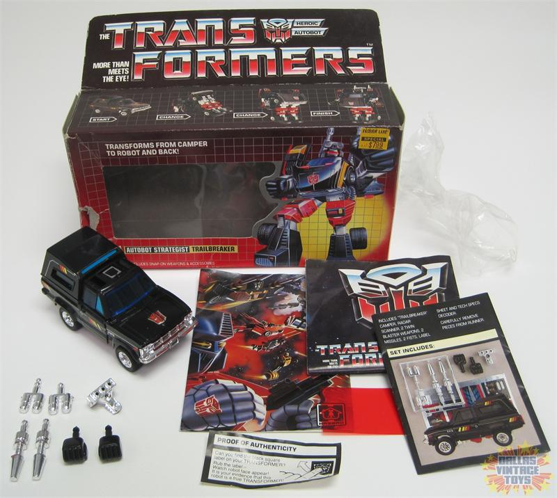 Transformers G1 1984 Trailbreaker with Box