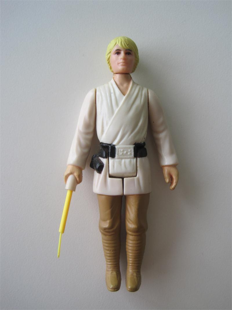 1977 Kenner Star Wars Luke Skywalker Farmboy Coo Hong Kong Letter G On Lightsaber Hilt