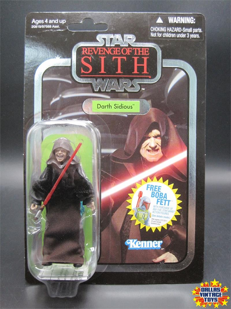 2010 Kenner Star Wars Vintage Collection Revenge Of The Sith Vc12 Darth Sidious 1g