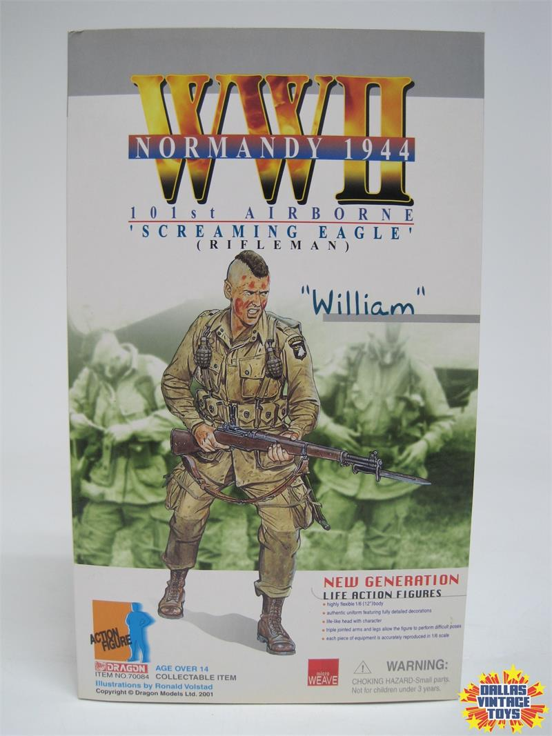 2001 Dragon Wwii Normandy 1944 101st Airborne Screaming Eagle William 12 Inch Figure 1a