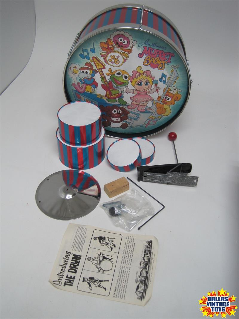 1985 Noble & Cooley Muppet Babies Trap Drum Set OPENED (1A)