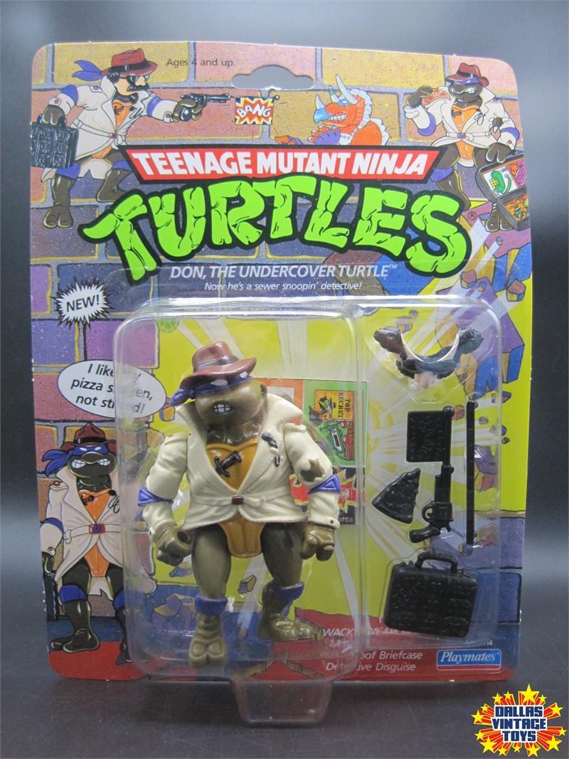 TMNT Don Undercover Turtle Figure Playmates 1990 Teenage Mutant Ninja Turtles