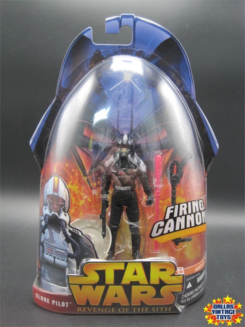 2005 Hasbro Star Wars Revenge Of The Sith Episode Iii Clone Pilot 34 Black Variant 1c