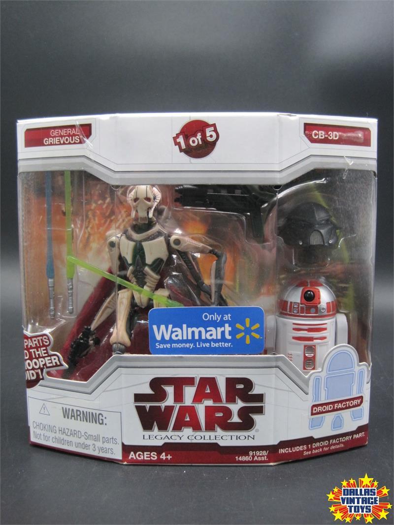 Star Wars CB-3D Droid Factory Figure,Legacy,2009,Walmart,LOOSE