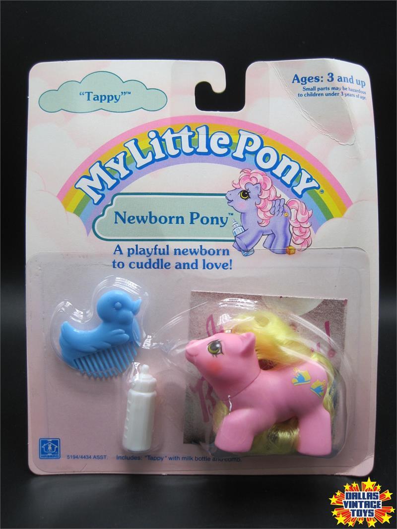 1988 hasbro my little pony newborn pony tappy 1a