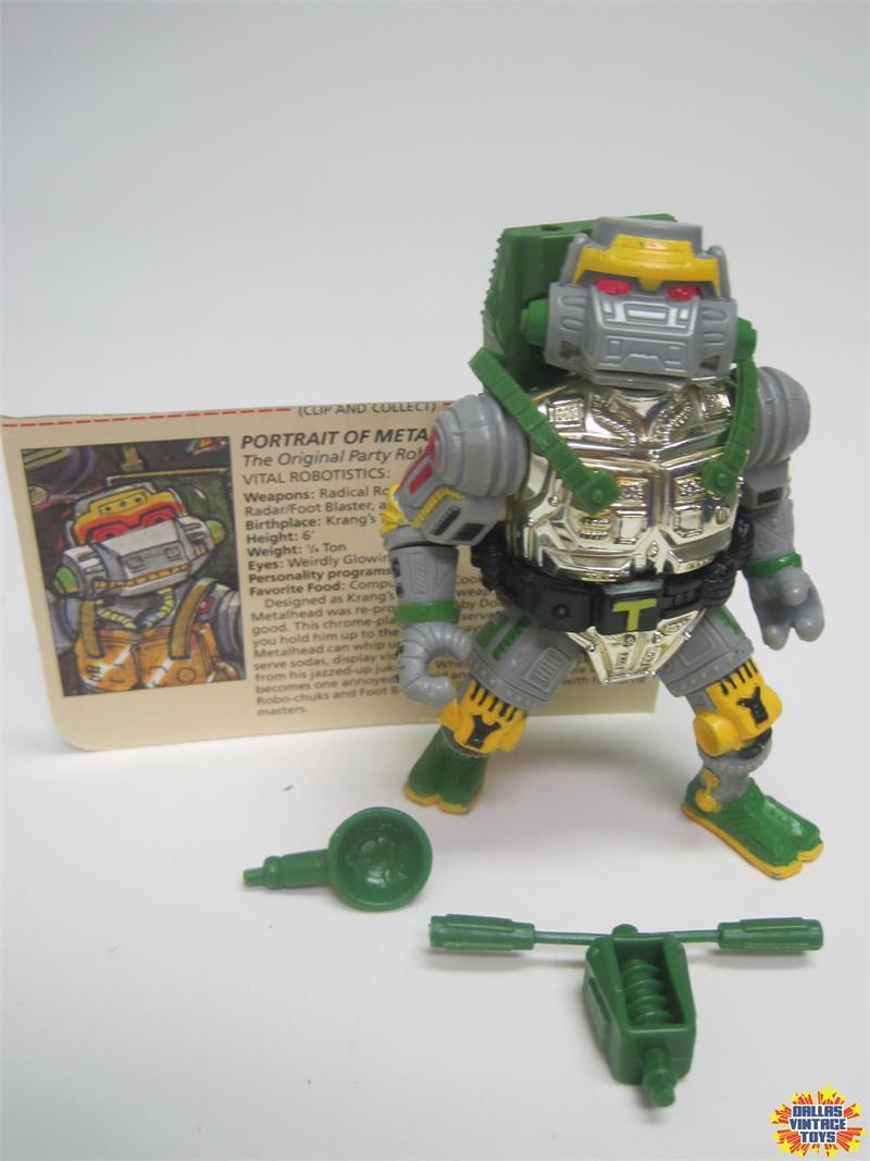 VINTAGE 1989 Playmates Teenage Mutant Ninja Turtles Filecard-Krang