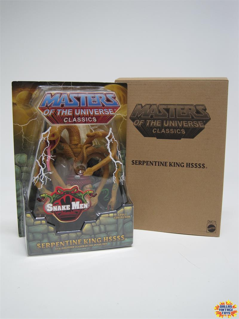 DMC75 Masters of Universe Classics Serpentine King Hssss Figure masters of the Universe