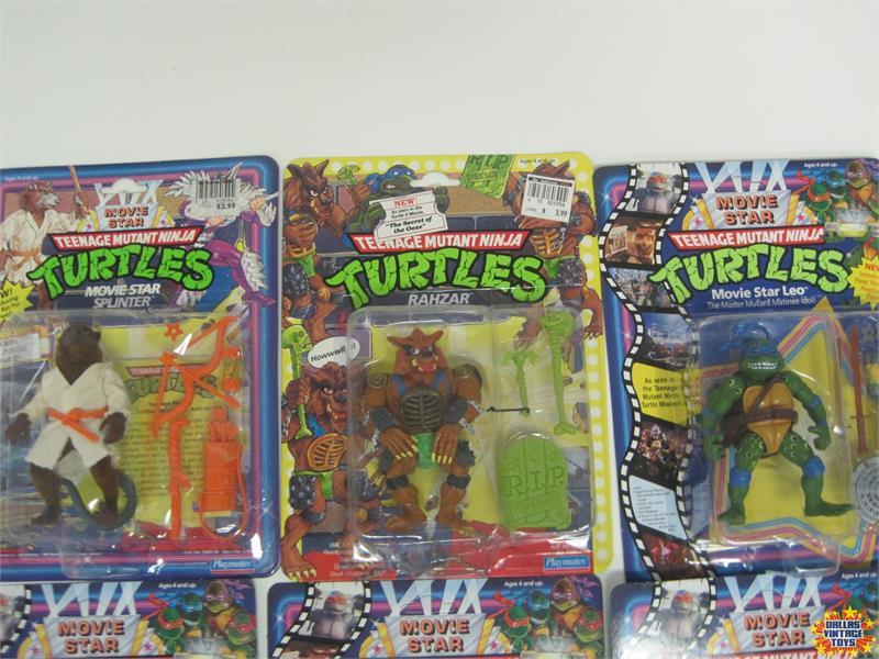 Lot Of 9 Playmates Teenage Mutant Ninja Turtles Movie Star Figures