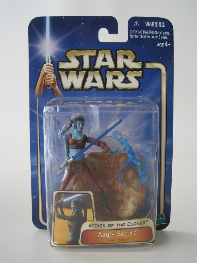 STAR WARS ATTACK OF THE CLONES AAYLA SECURA ACTION FIGURE HASBRO 2002