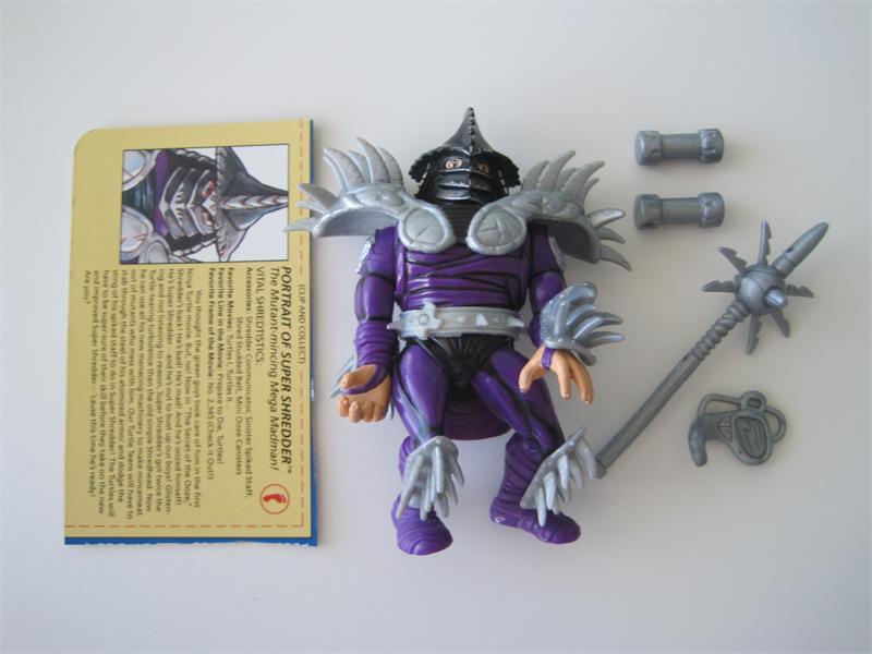 Teenage Mutant Ninja Turtles Shredder Toy : Tmnt 1991 teenage mutant ninja turtles super shredder complete