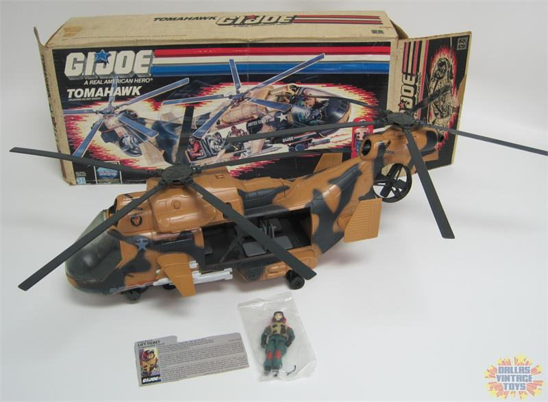 1986 Hasbro Gi Joe Tomahawk Helicopter W Box