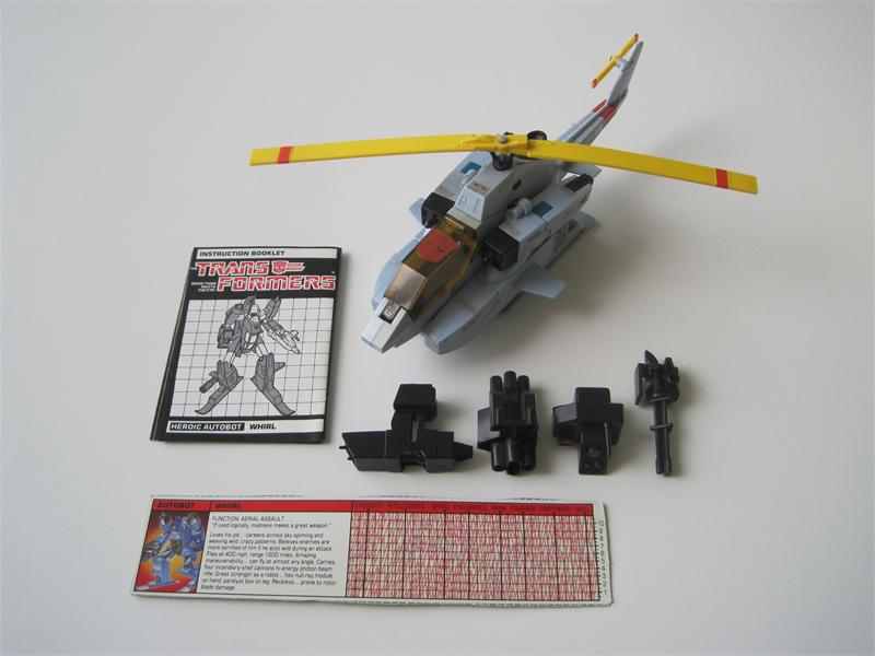 Transformers G1 1985 Whirl w/ Tech Spec & Instructions